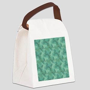 Teal Butterflies Canvas Lunch Bag