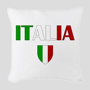 Italia Logo Woven Throw Pillow