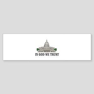 congress in god we trust Bumper Sticker