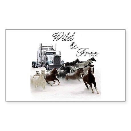 Wild & Free Rectangle Sticker