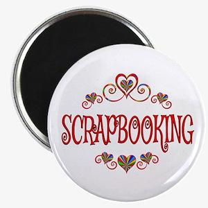 Scrapbooking Hearts Magnet