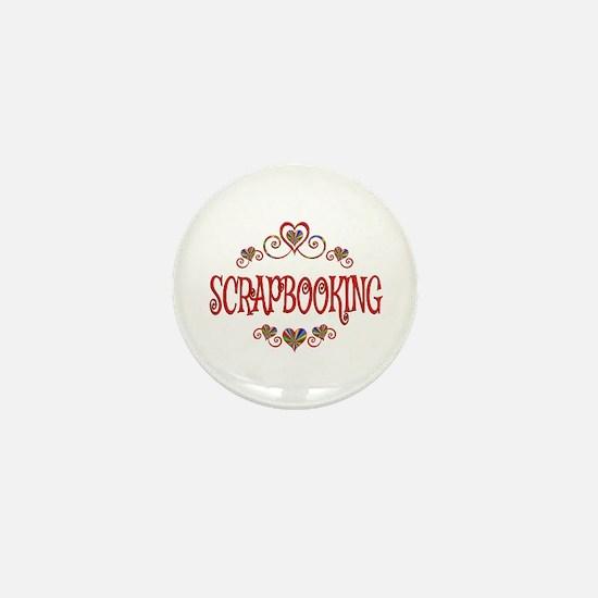 Scrapbooking Hearts Mini Button