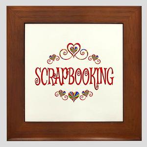 Scrapbooking Hearts Framed Tile