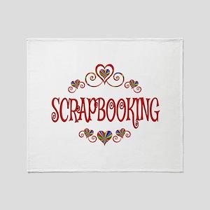 Scrapbooking Hearts Throw Blanket