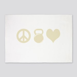 Peace Weight Love 5'x7'Area Rug