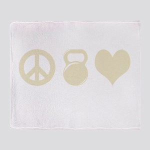 Peace Weight Love Throw Blanket