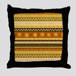 African Ethnic Pattern Throw Pillow
