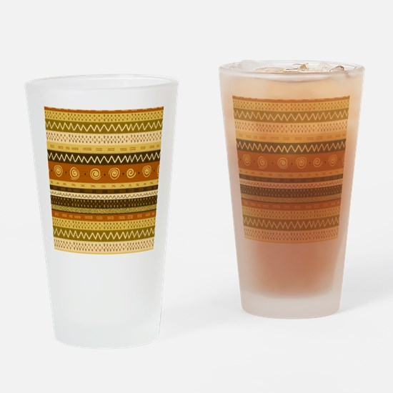 African Ethnic Pattern Drinking Glass