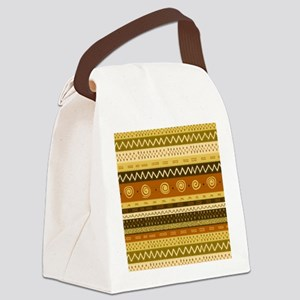 African Ethnic Pattern Canvas Lunch Bag