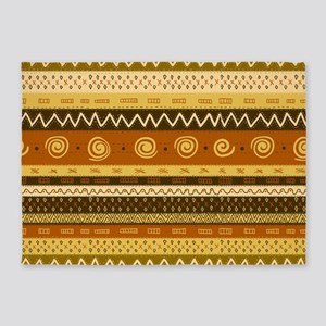 African Ethnic Pattern 5'x7'Area Rug