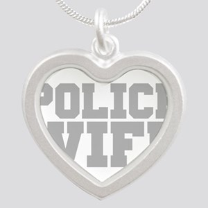 Police Wife Silver Heart Necklace