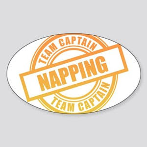 Napping Team Captain Sticker (Oval)