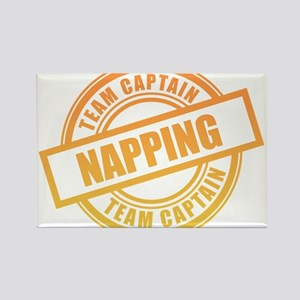 Napping Team Captain Rectangle Magnet