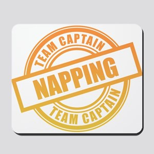 Napping Team Captain Mousepad