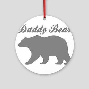 Daddy Bear Round Ornament