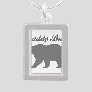 Daddy Bear Silver Portrait Necklace