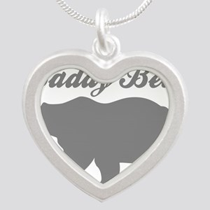Daddy Bear Silver Heart Necklace