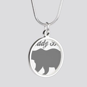 Daddy Bear Silver Round Necklace