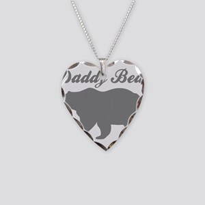 Daddy Bear Necklace Heart Charm