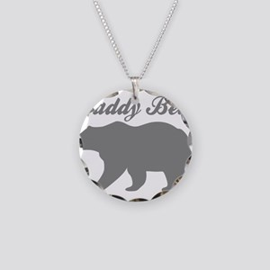 Daddy Bear Necklace Circle Charm