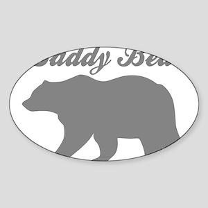 Daddy Bear Sticker (Oval)