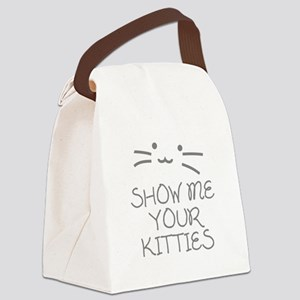 Show Me Your Kitties Canvas Lunch Bag