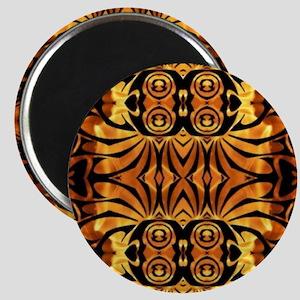 flames safari tribal pattern Magnet