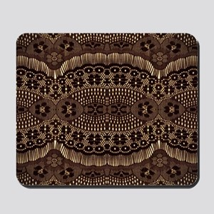 modern girly vintage lace Mousepad