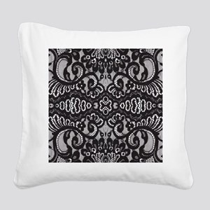 modern girly vintage lace Square Canvas Pillow