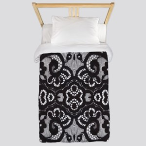 modern girly vintage lace Twin Duvet