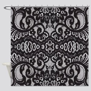 Modern Girly Vintage Lace Shower Curtain