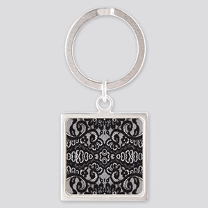 modern girly vintage lace Square Keychain