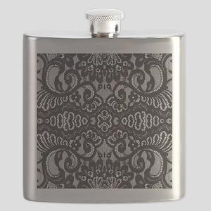 modern girly vintage lace Flask