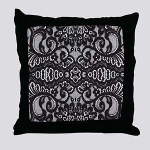modern girly vintage lace Throw Pillow