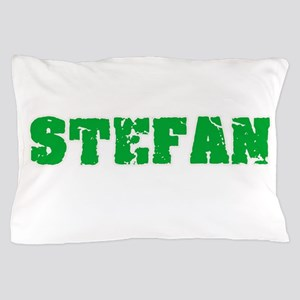Stefan Name Weathered Green Design Pillow Case