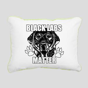 BLACK LABS MATTER 2 Rectangular Canvas Pillow