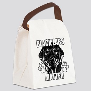 BLACK LABS MATTER 2 Canvas Lunch Bag