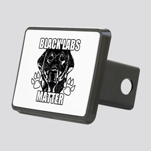 BLACK LABS MATTER 2 Rectangular Hitch Cover