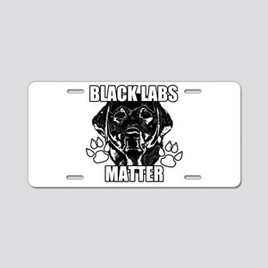 BLACK LABS MATTER 2 Aluminum License Plate