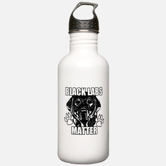 BLACK LABS MATTER 2 Water Bottle