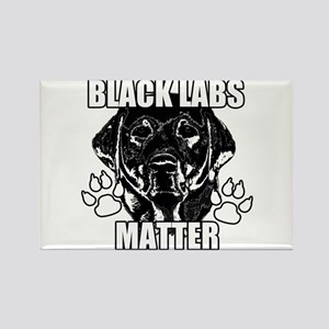 BLACK LABS MATTER 2 Rectangle Magnet