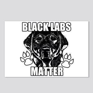 BLACK LABS MATTER 2 Postcards (Package of 8)