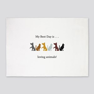Best Day Cats and Dogs Gifts 5'x7'Area Rug