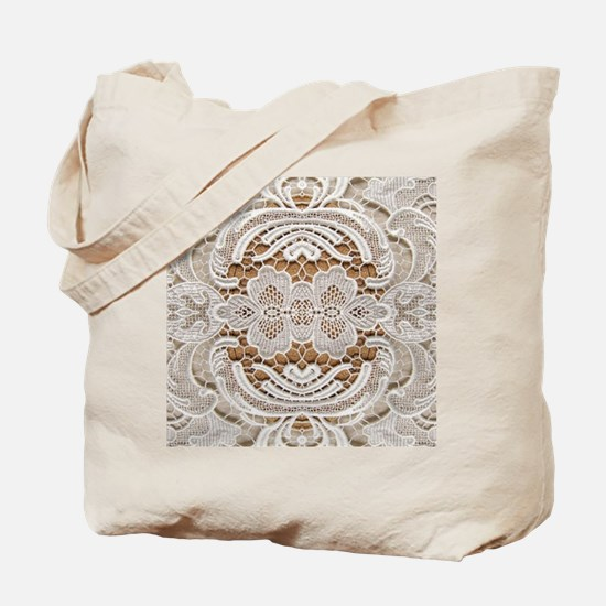 girly hipster vintage white lace  Tote Bag