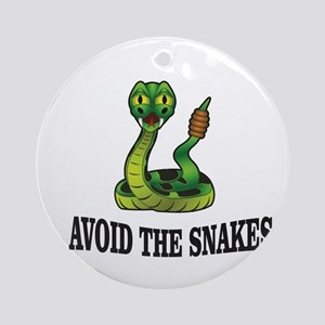Avoid the snakes in life Round Ornament