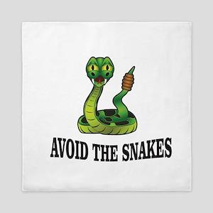 Avoid the snakes in life Queen Duvet