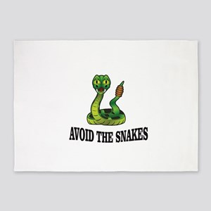 Avoid the snakes in life 5'x7'Area Rug