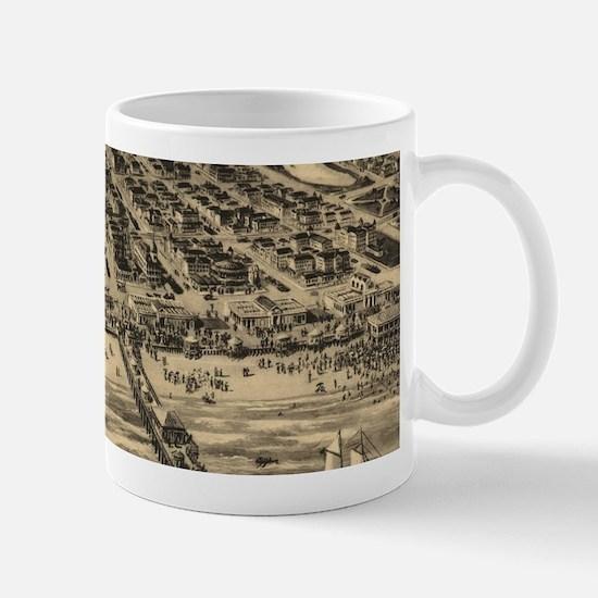 Vintage Pictorial Map of Asbury Park NJ (1910 Mugs