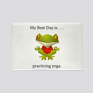 Best Day Frog Yoga Gifts Magnets