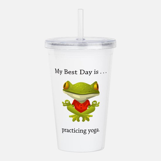 Best Day Frog Yoga Gifts Acrylic Double-wall Tumbl